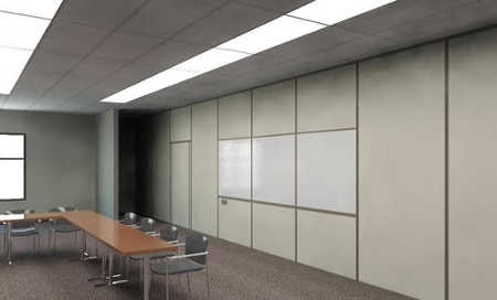 Example image of Hufcor partition rendering after BIM Revit editing