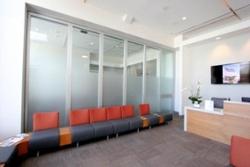 Spodak Denal Office - Movable glass partition system by Hufcor