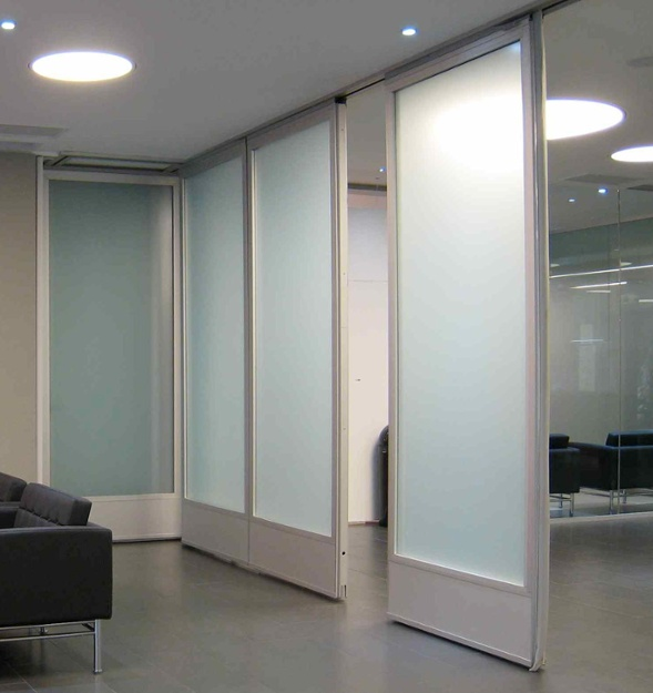 Glass partition walls leed design and acoustics with a Interior glass partition systems