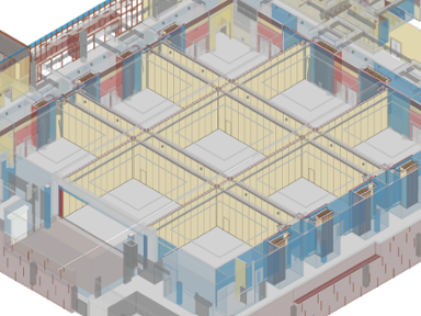 Example of BIM Revit families from Hufcor design team
