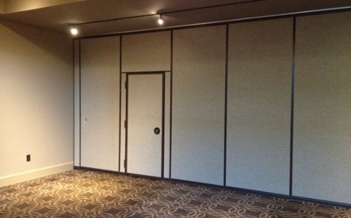Acoustical harmony wallcovering at the Proximity Hotel in Greensboro, North Carolina the nation's first LEED Platinum hotel